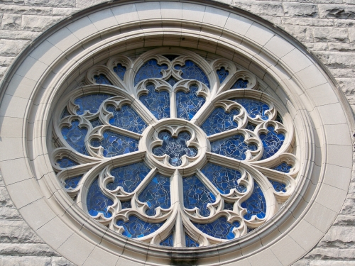 Outside of the north rose window